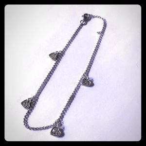 Jewelry - Ankle Bracelet  Sterling and Diamond